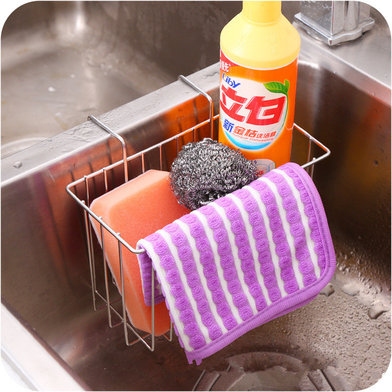 1PC Stainless Steel Kitchen Tray Dish Drainer Drying Rack Sink Holder Basket Holder Dish Rack Kitchen Organizer OK 0715 in Storage Holders Racks from Home Garden