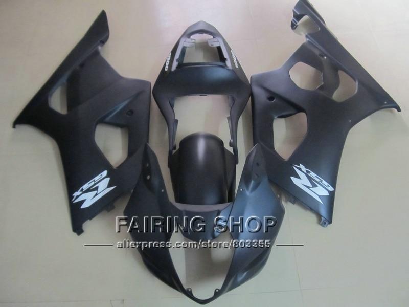 Бесплатные настройки инъекции формованных обтекатель комплект для Suzuki GSXR1000 03 04 К3 К4 матовый черный обтекатели комплект GSXR 1000 2003 2004 WT24