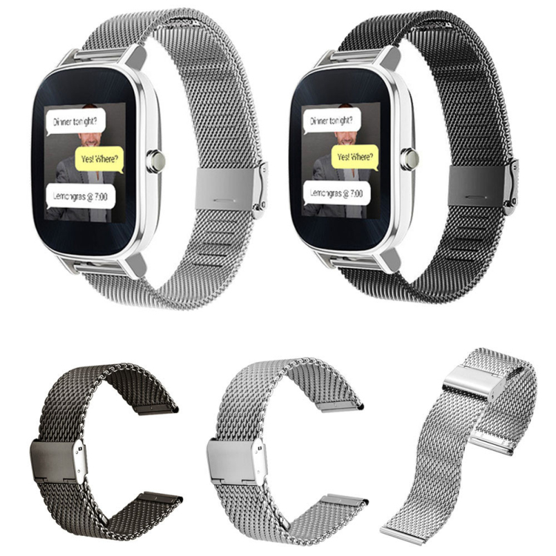 Excellent Quality 22mm Watch Band Strap Milanese Loop Strap Stainless Steel Band Magnetic Bracelet for ASUS ZenWatch 2 crested milanese loop strap metal frame for fitbit blaze stainless steel watch band magnetic lock bracelet wristwatch bracelet