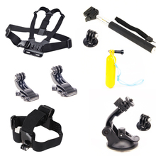 For Xiaomi accessories sets Chest Head belts + Selfie Stick +Suction cup etc camera accessory Kits for Sport & action cams