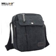 2020 New Canvas Shoulder Bag Vintage Flap Men's Bag Korean B