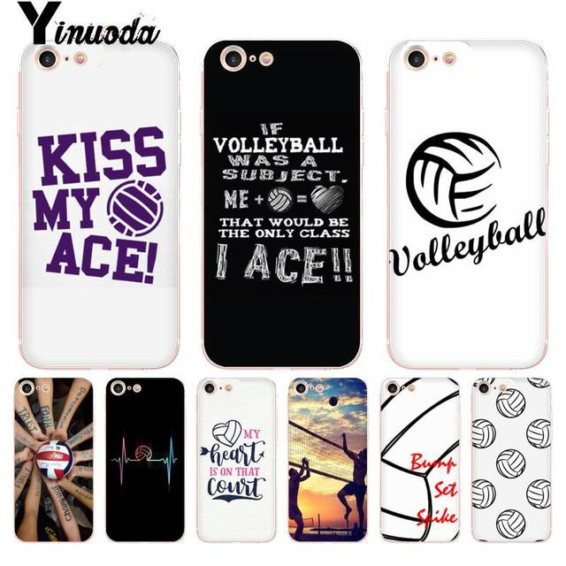 official photos e5e30 d3e52 US $1.1 14% OFF|Yinuoda For iphone 7 6 X Case Volleyball Sports Coque Shell  Phone Case for iPhone 8 7 6 6S Plus X 10 5 5S SE XR XS XSMAX-in ...