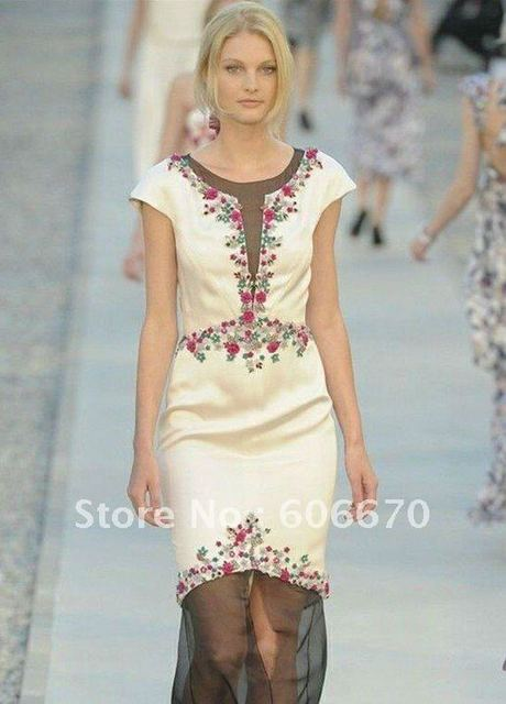 Free Shipping 2012 New arrival Perfect elegant embroidered cap sleeve pencil dress 111220T01
