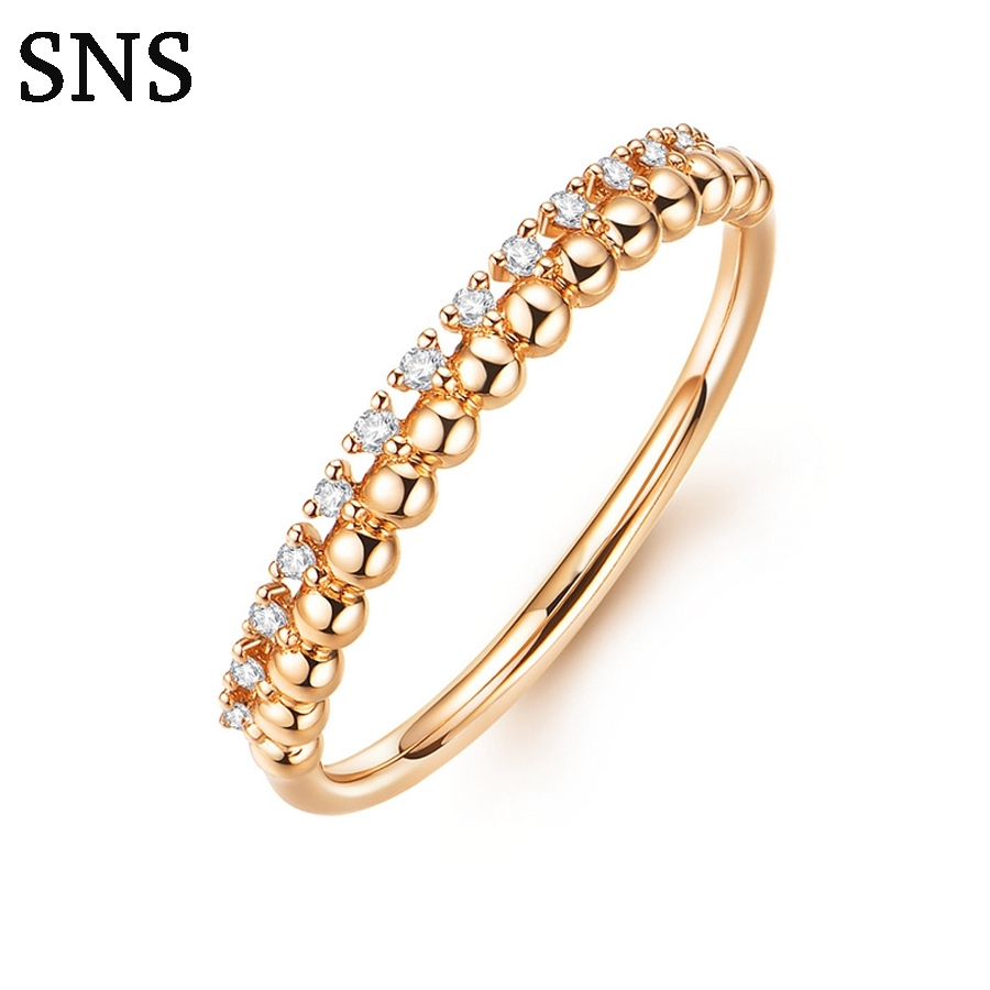 0.07ctw Vintage Natural Diamond Ring 14k Solid Rose Gold Gift for Women Hot Selling Party Trendy New Matching Band Customized цена