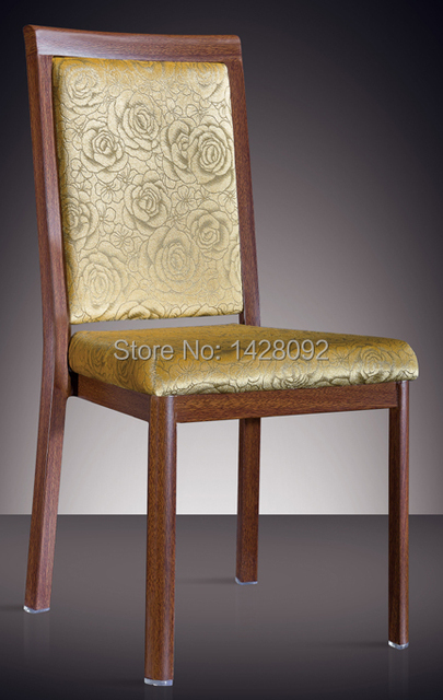 woodgrain aluminum dining chair LQ-L808