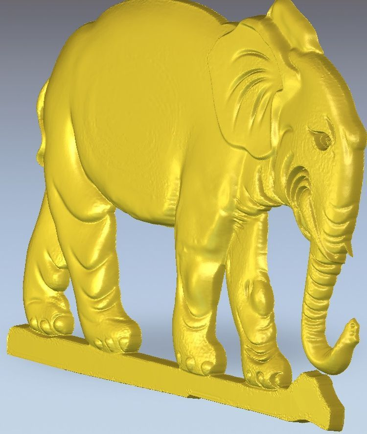 3d Model Relief Elephant_4  For Cnc In STL File Format