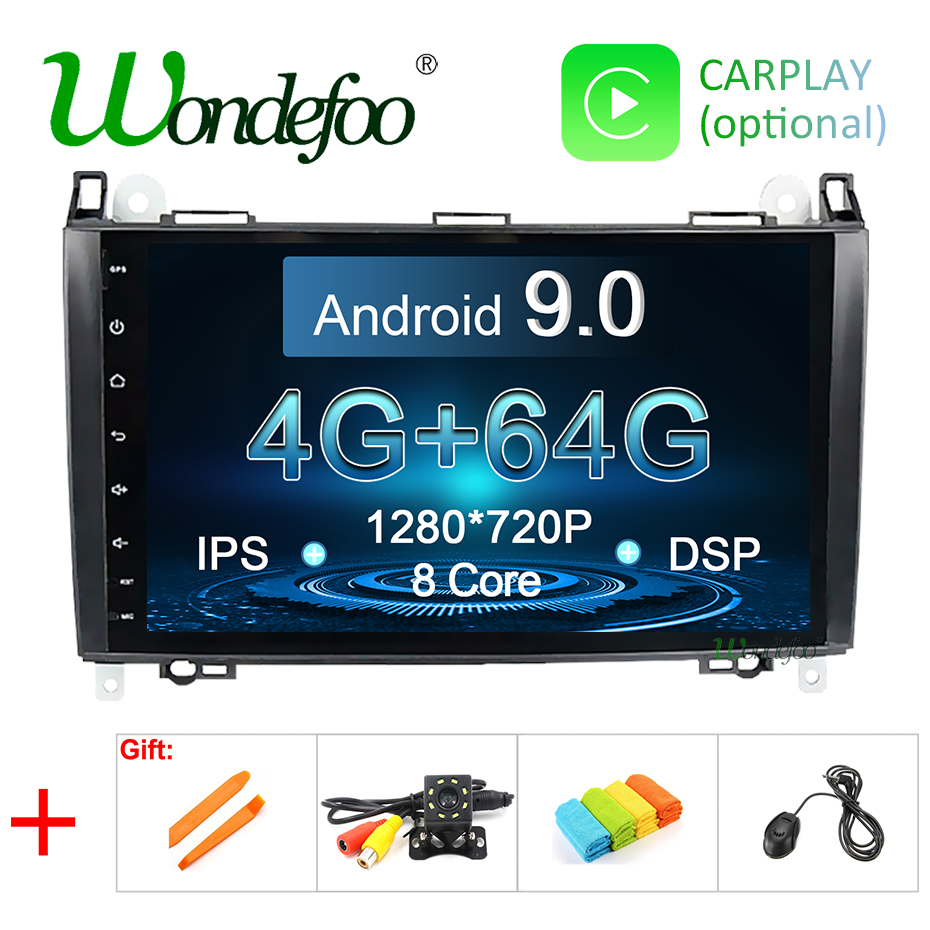 DSP IPS Android 9 0 4G 64G Car GPS For Mercedes Benz B200 Sprinter B class