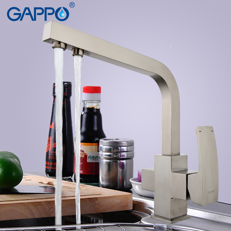 GAPPO1set Brass Kitchen Faucet water filter taps water mixer kitchen sink faucet tap brass kitchen purified