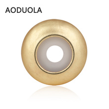 10 pcs a Lot Matte Gold bead Silica Gel Silicone Rubber Elastic Stopper Beads Fit For Pandora Charms Beacelet Jewelry gift perle