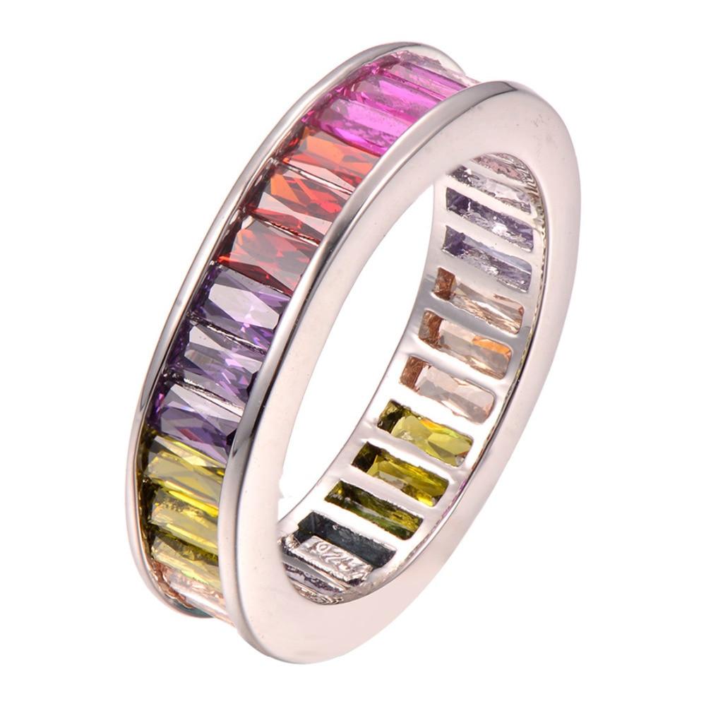 Groothandel Paars Crystal Zirkoon Granaat 925 Sterling zilveren Ring Maat 5 6 7 8 9 10 11 12 F1256