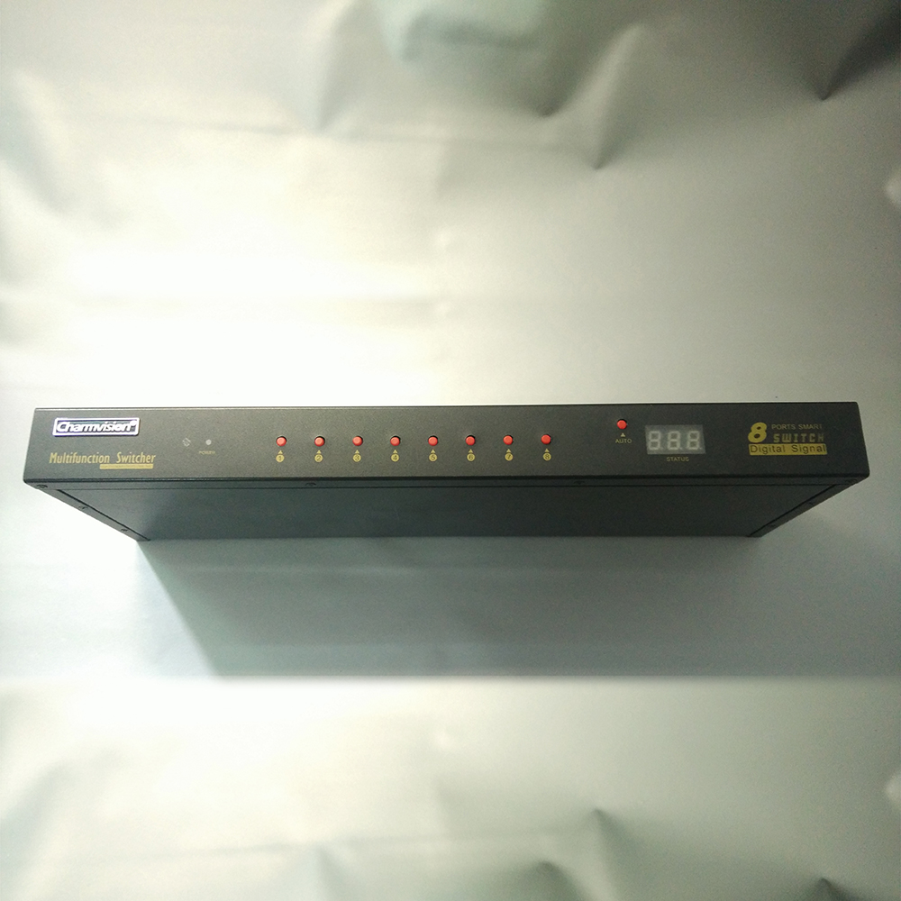 Charmvision VK801A computer KVM smart USB audio KVM hosts switch with 8 pcs cable VGA USB aduio Mic keyboard hot key auto switch