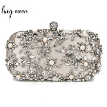 Luxury Party Clutch Women Rhinestone Beaded Clutches Wedding Bag Womens Purse and Handbags Wallets Shoulder
