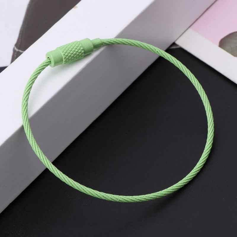 สีสแตนเลสสายพวงกุญแจ Chain EDC กระเป๋าเชือก 95AE