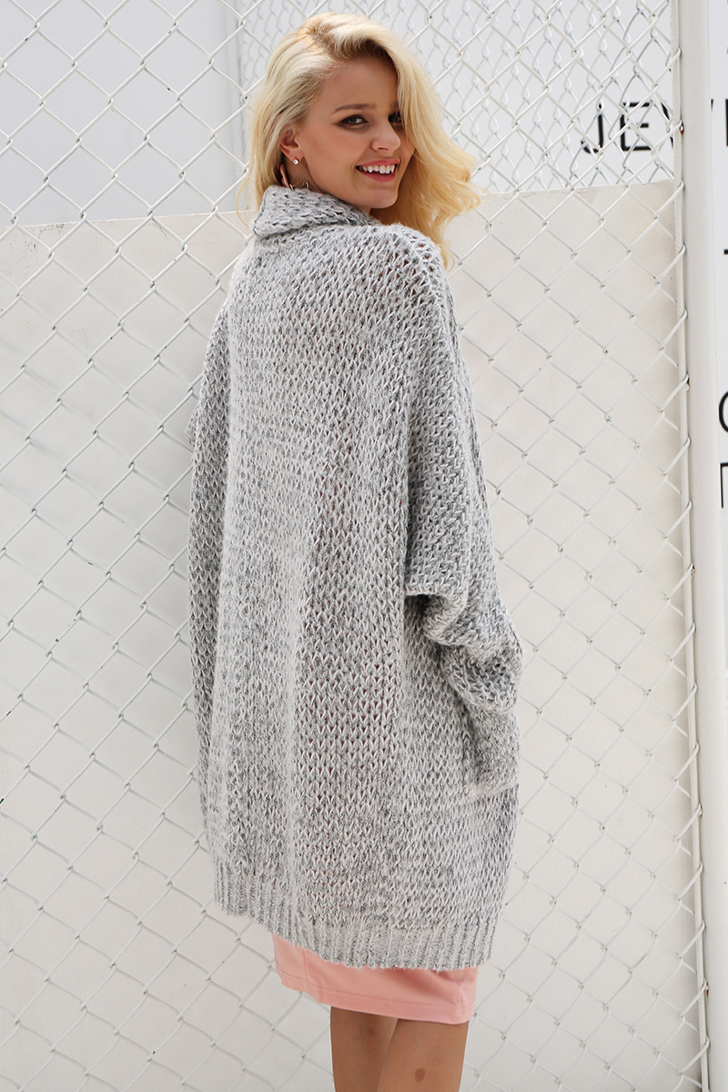 Simplee Casual knitting long cardigan female Loose cardigan knitted jumper 2017 warm winter sweater women cardigan 5