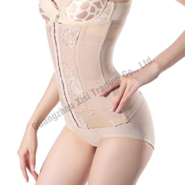2019 womens steel boning Sexy body shapers tummy trimmer long waist trainer corsets black long waist cincher slimmer Bind belt 3