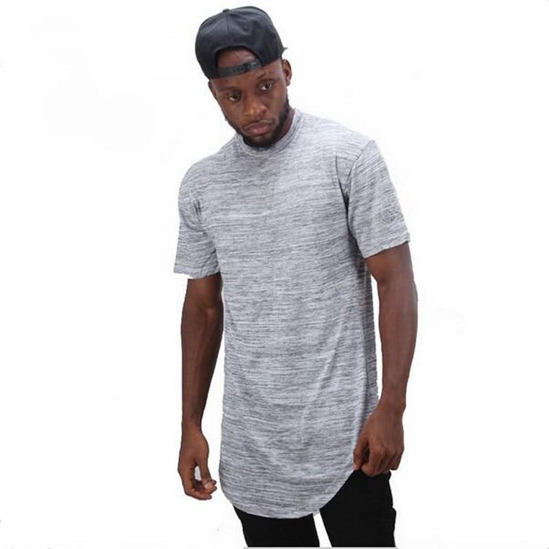 Nouveau 2018 étendre hip hop rue T-shirt en gros de mode marque t chemises hommes d'été à manches courtes conception surdimensionnée Taille S-2XL
