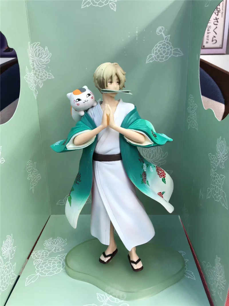 Anime Natsume Yuujinchou Nyanko Sensei Takashi Kedi Neko PVC Aksiyon şekilli kalıp Oyuncaklar Sevimli Figuras Bebek Hediye 20 cm