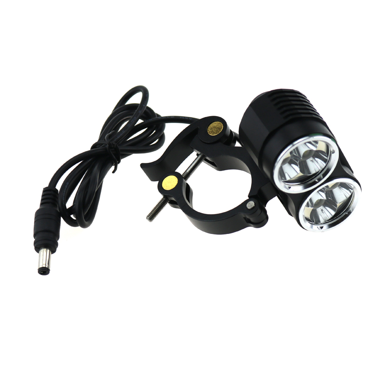Bicycle Light 8000 Lumens 6T6 6xCREE XM-L T6 LED Bike Frame Light With Aluminum Metal Clips Mount Holder Cycling Flashlight
