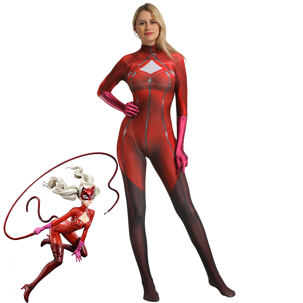 New Game Persona 5 P5 Anne Takamaki Phantom Thief Panther Cosplay Costumes Women Girls Zentai Jumpsuits Catsuit Halloween Suit image