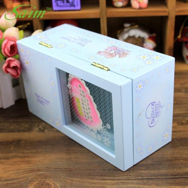 Saim Plastic Casket Music Box Creative Music Jewelry Box Rectangle Musical Box Rotating Dancing Girl Music