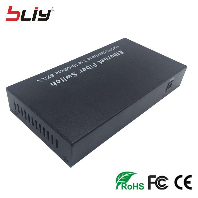 Image 5 - optical fiber 4 port SFP media converter 2G2E 20km sfp fiber to 2 rj45 UTP commercial ethernet fiber optic sfp switch FTTH-in Network Switches from Computer & Office