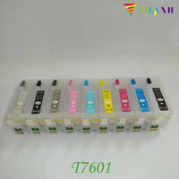 For Epson P600 Refillable Ink Cartridge For Epson Surecolor SC P600 Printer With Auto Reset Chips