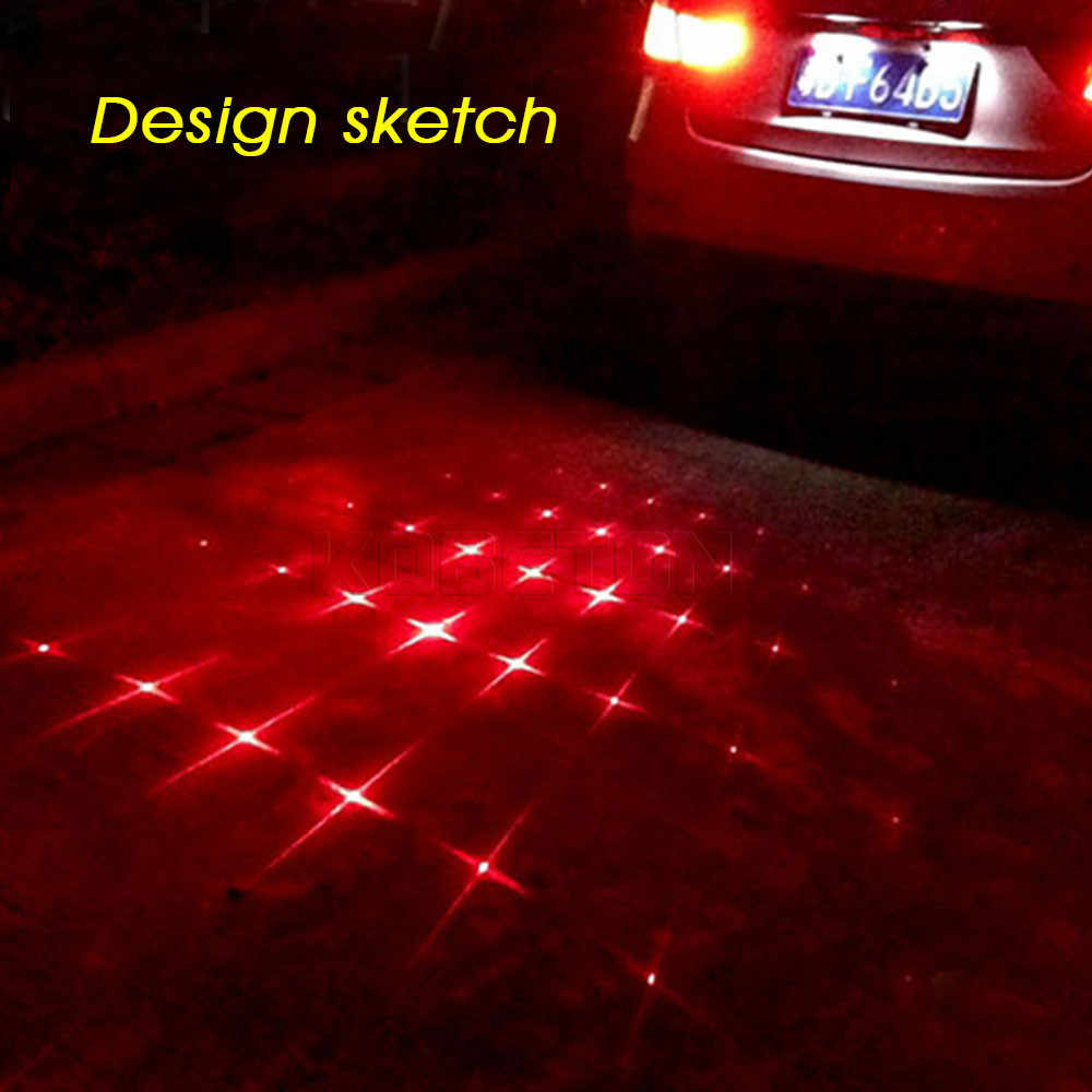 Universal car lights Laser Fog Light Anti Collision Tail Lamp Auto Braking Parking Signal Warning Lamps LED Motorcycle for BMW