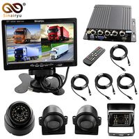 Sinairyu Large Vehicle Monitoring Parking System 4 Split 7 TFT LCD DVR Screen Display With 4PCS