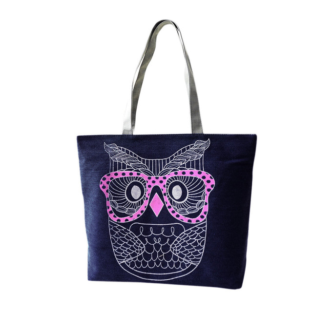 Retro Owl Tote Shoulder Bag