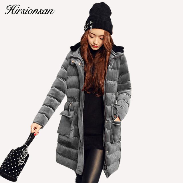 Mais novo Casaco De Veludo Com Capuz Mulheres Jaqueta de Inverno Estilo Coreano Médio Longo de Veludo Parka Engrossar Outwear Ladies Parkas Moda Quente Fino