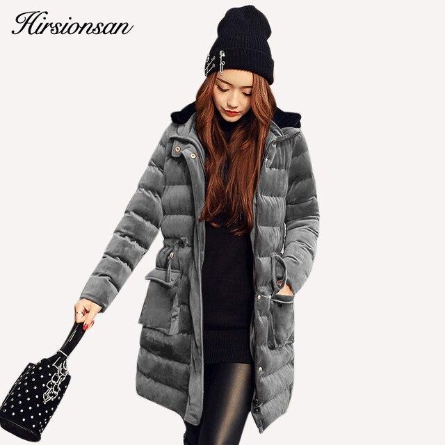 Newest Velour Coat Hooded Winter Jacket Women Korean Style Mid Long Velvet Parka Thicken Slim Warm Outwear Ladies Fashion Parkas