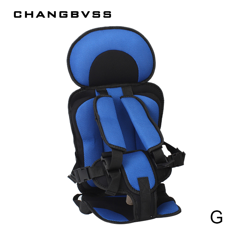 1-12 Years Old Child Safety Seat Portable Baby Protect Mat For Travel 9-36kg Thickening Sponge Kids Sitting Cushion with Belt