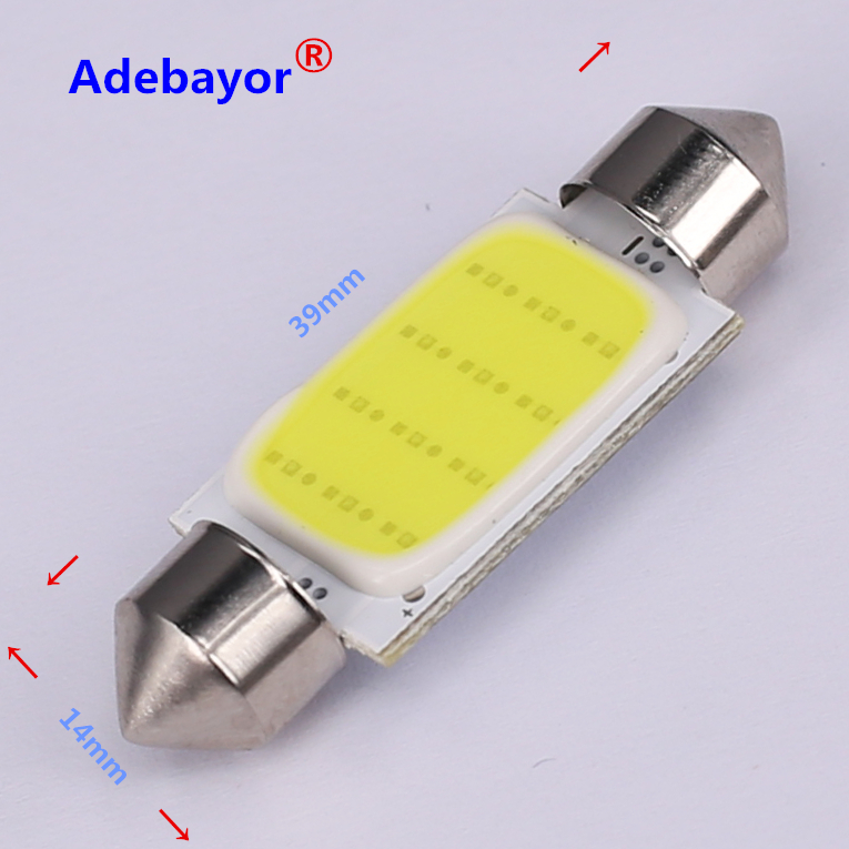 Image 3 - 100X 31mm 36mm 39mm 42mm C5W Car led festoon light COB 12 chips Auto super bright COB Festoon MAP/DOME/INTERIOR LIGHTS Adebayor-in Signal Lamp from Automobiles & Motorcycles