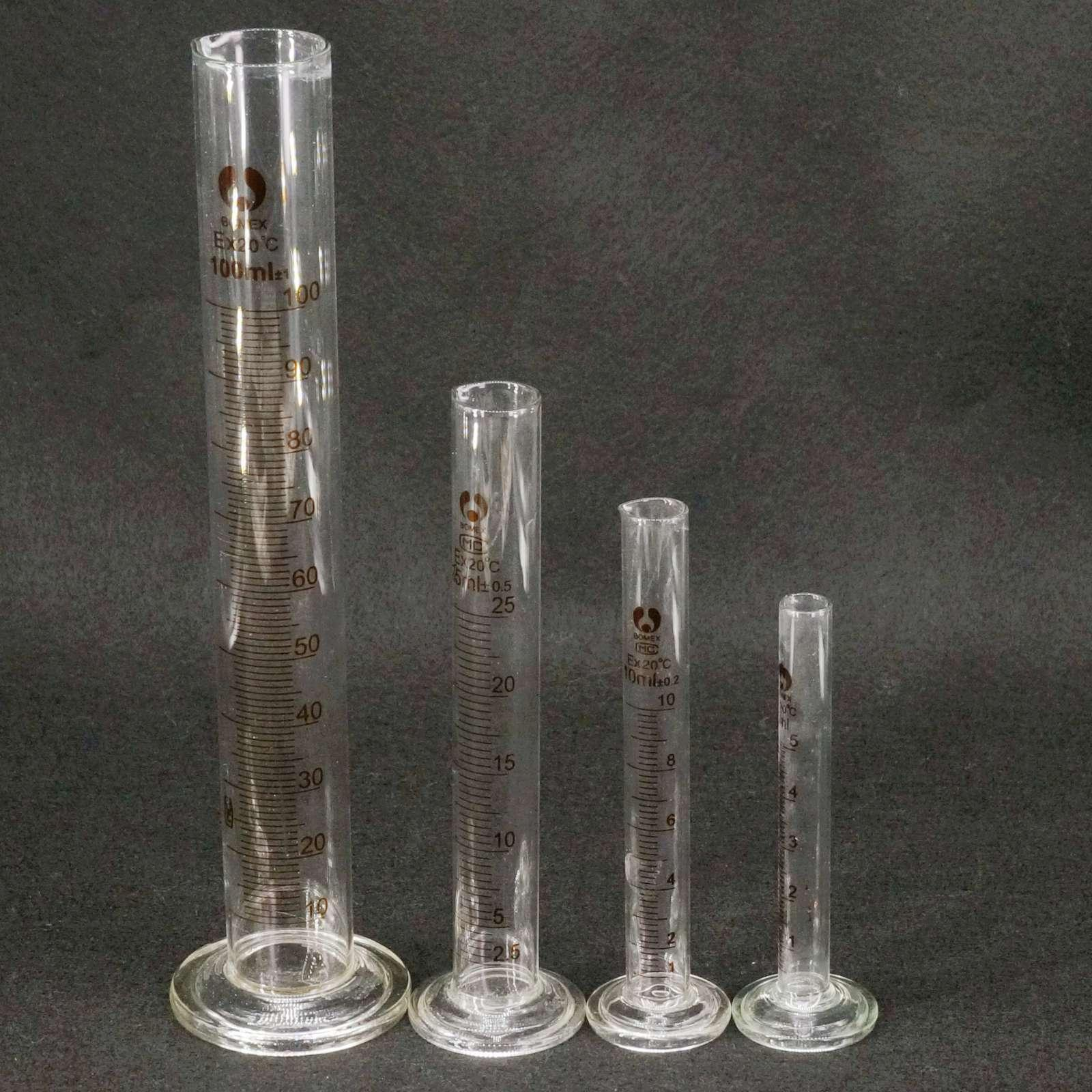 5/10/20/25/50/100/250/500/1000/2000ml Lab Lead-free Glass Graduated Measuring Cylinder
