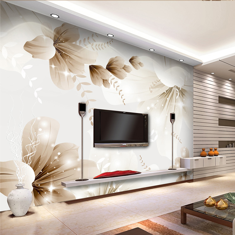 Large flowers floral wallpaper mural selling fashion for Selling wallpaper