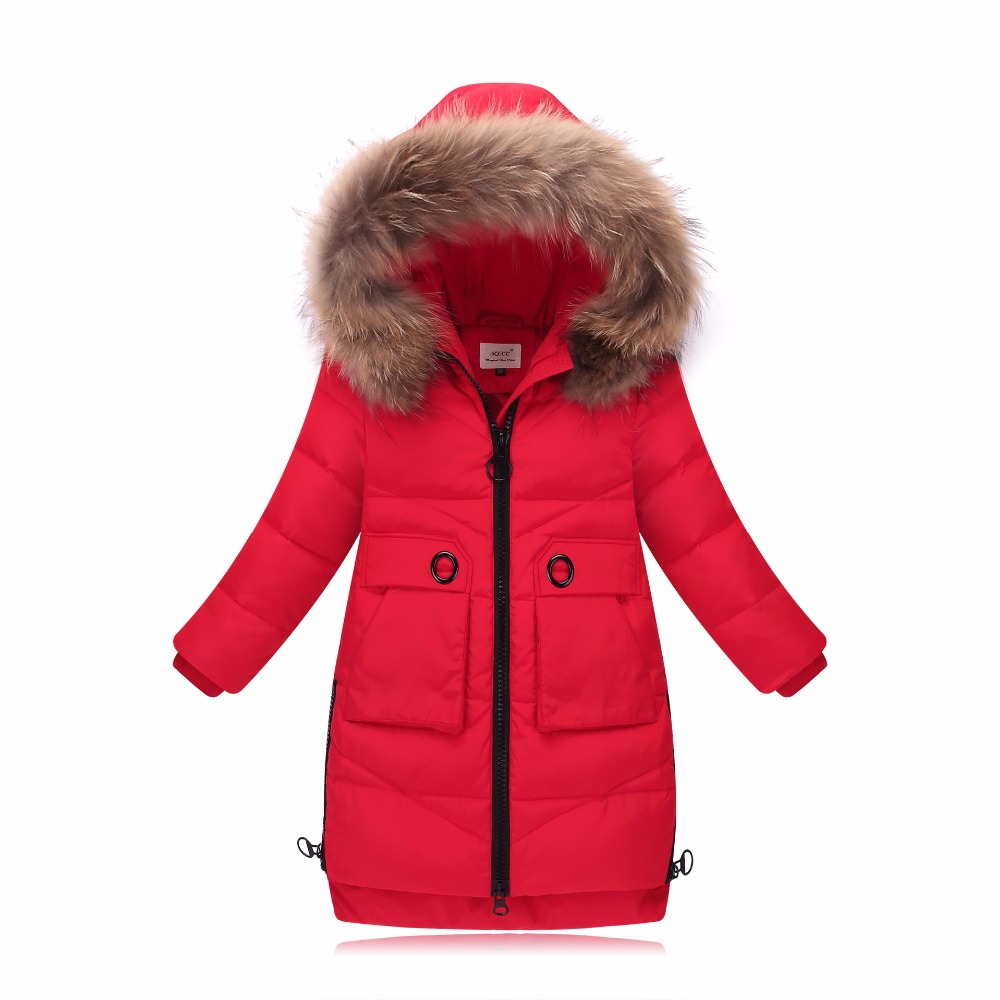 girl winter coat kids winter jackets for girl long solid girls parka down jacket thicken warm hooded girls down jacket duck down children duck down winter warm jacket with fur baby boy girl solid overcoat hooded winter jacket kid clothing fashion down coat