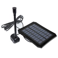 7V 1.2W LED Light Solar Panel Water Pump Kit Pool Garden Pond Submersible Solar Powered Fountain With built in battery