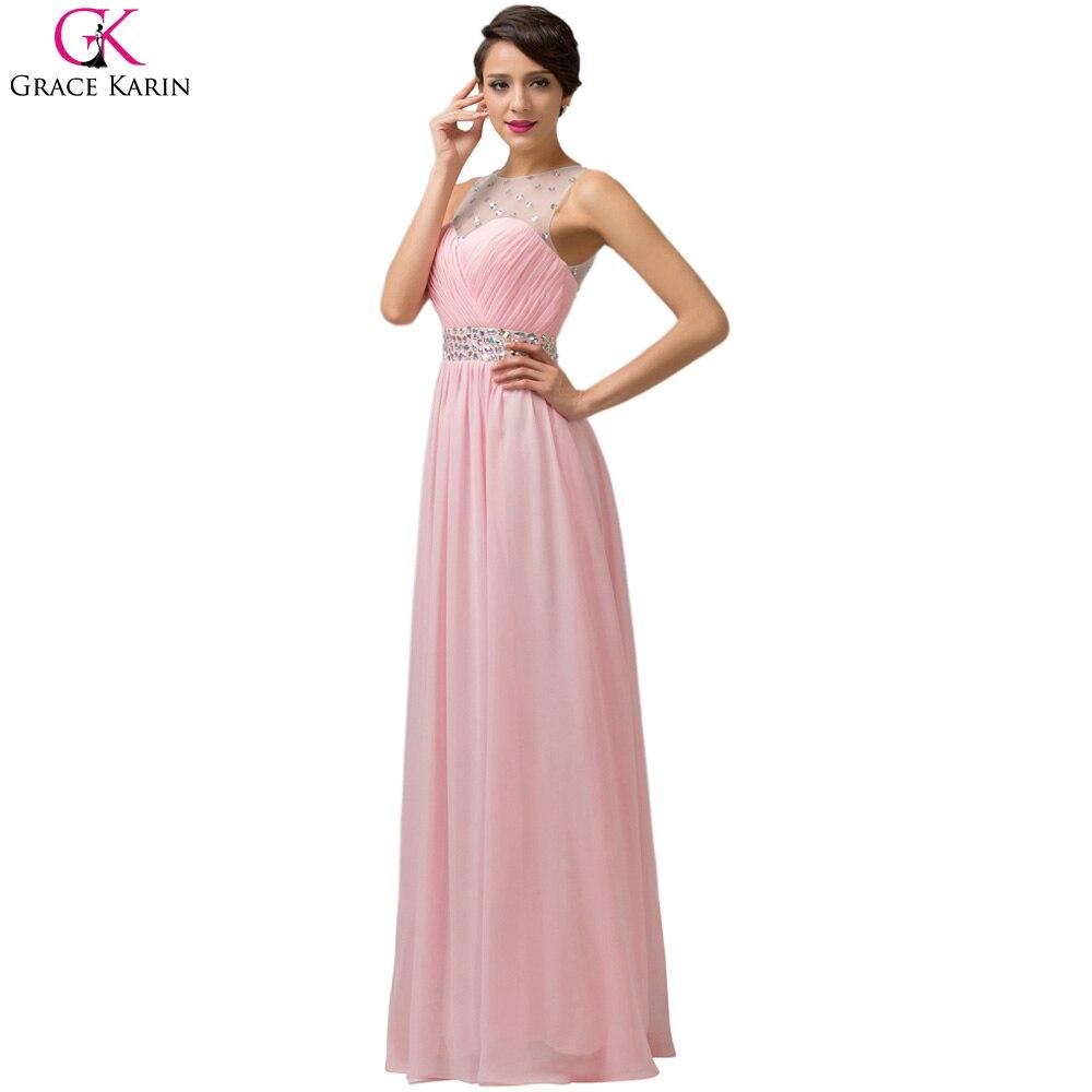 Increíble Baile Vestidos Largos De Color Rosa Colección de Imágenes ...