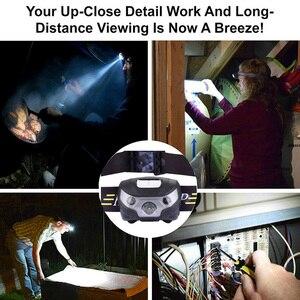 Image 5 - ZK20 4000LM Mini Sạc Đèn LED Đội Đầu Cơ Thể Cảm Biến Chuyển Động Xe Đạp Đầu Đèn Cắm Trại Ngoài Trời Đèn Pin