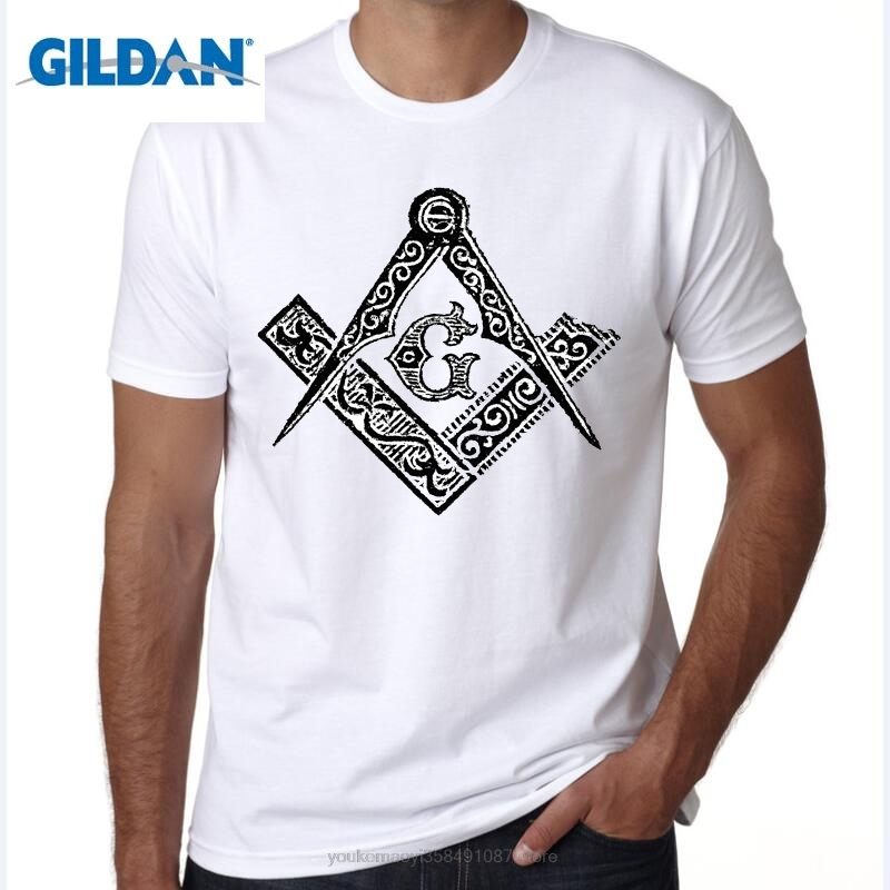 GILDAN men clothes Fashion Men T-Shirts Custom Made T Shirts masons, Freemason, Lodge, M ...