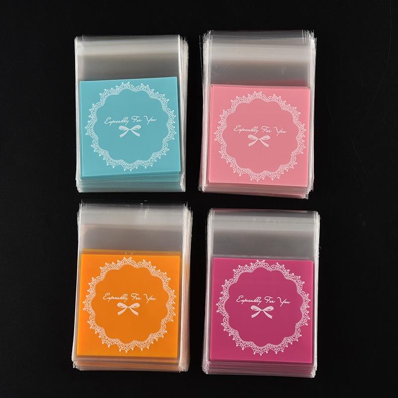 Honig 100 Teile/los Dot Bowknot Selbstklebende Plastiktüten Für Kekse Snacks Backpaket Weihnachtsgeschenk Süßigkeiten Taschen Cookie Verpackung Kartenhalter & Notizhalter