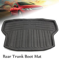 Car Carpet Floor Mats Rear Trunk Boot Mat Cargo Liner Floor Tray Protector Auto Rear Door Mat for Honda Civic Sedan 2016 2018