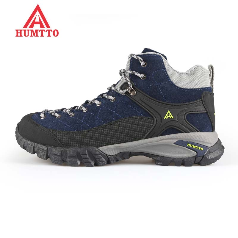 HUMTTO Mens Leather Sports Outdoor Trekking Hiking Shoes Sneakers For Men Sport Wearable Climbing Mountain Shoes Man humtto outdoor hiking shoes for women breathable men s sneakers summer camping climbing lovers upstream sports man woman brand