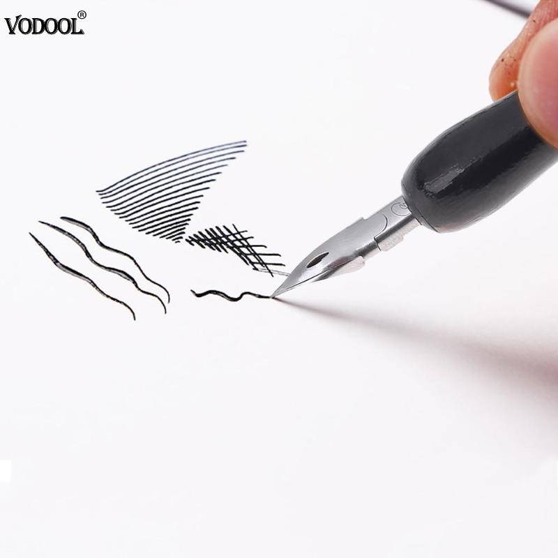Portable Cartoon Painting Pen Brushes Pen Manga Drawing Tools Kit Dip Fountain Pens School Stationery School Office Supplies marking tools
