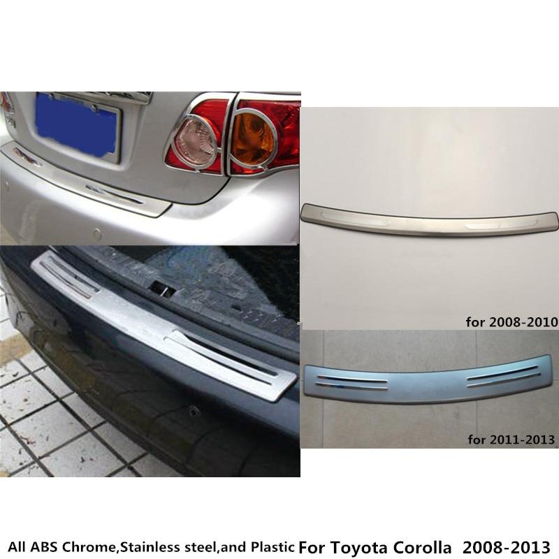 For Toyota Corolla Altis 2008 2009 2010 2011 2012 2013 Car cover Stainless Steel outside Rear Bumper tailgate pedal Strip plate 6pcs for toyota corolla 2003 2008 2009 2010 2011 2012 2013 car led 12v parking led interior light bar kit