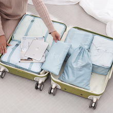 6 PCS Travel Storage Bag Set For Clothes Organizer Wardrobe Suitcase Pouch Case Laundry Bags