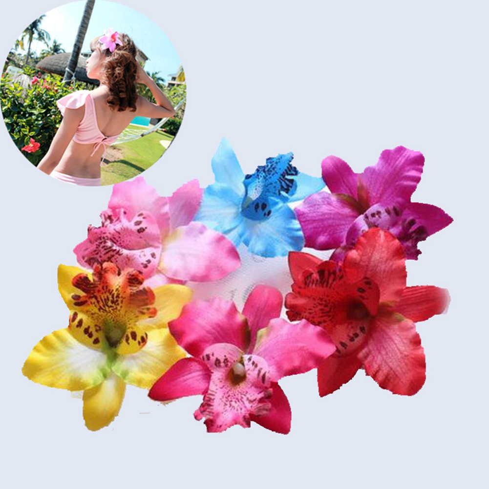 1PC à la main Chic thaïlande orchidée fleur pinces à cheveux pour accessoires de cheveux bricolage Boho femmes filles épingles à cheveux Barrettes coiffure