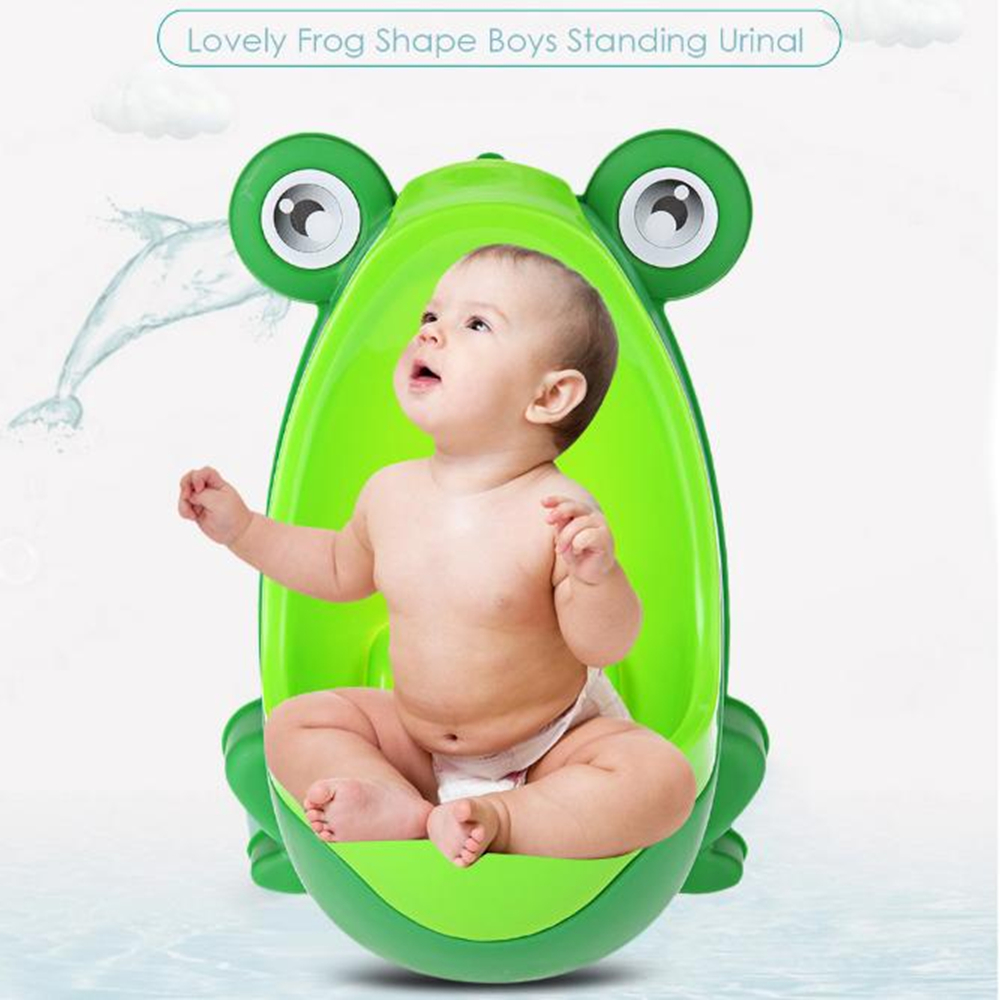 Baby Boy Potty Toilet Training Penguin Frog Children Kids Stand Vertical Urinal Boy Pee Infant Toddler Wall-Mounted Pot Training