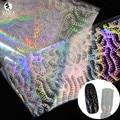 Sara Nail Salon 1 pc 100 cm * 4 cm Prego Transferência Art Papel Adesivo Holográfico Prego Foils Nail Art etiqueta Padrão de Distribuição LT13