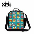 Cute Owl Insulated Lunch Bags for Girls School,Animal lunch Container Pattern for Women,Kids Thermal Shoulder Lunch box bags